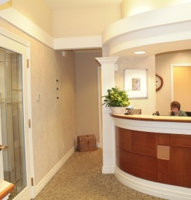 Darby Creek Dental front entrance and desk