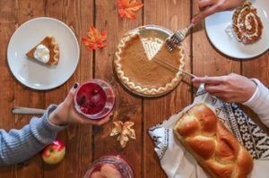 Thanksgiving foods that can stain teeth.